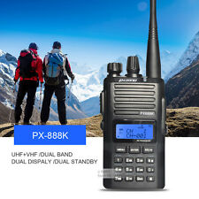 Puxing PX-888K Ham Walkie Talkie UHF&VHF Dual Band Two Way Radio FM Transceiver