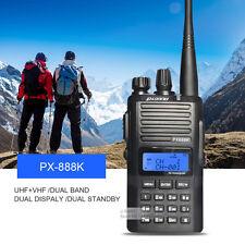 Puxing PX-888K Ham Walkie Talkie UHF&VHF Dual Band Two Way Radio FM Transceiver