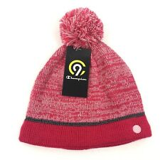 C9 Champion Girls Hat Os Beanie Pink Performance Fabric Duo Dry Reflective Lined