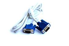 VGA SVGA MonitorKabel PC oder Notebook Verlängerung Kabel Neu