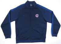 Chicago Cubs Nike Team Blue Sewn MLB Baseball Full Zip Track Mens Jacket XL
