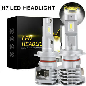 Autofeel 2x H7 LED Headlight Light Bulbs High Low Beam Replace Halogen