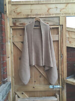 M&S Collection Slouchy Oatmeal Cardigan/Gilet/Top-Wool Mix-Lagenlook-8/10/12/14