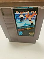***Pro Wrestling ORIGINAL Nintendo NES Game Tested + WORKING & Authentic