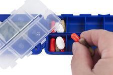 Pill Organizer - TabTime Super 8 Compartment Pill Reminder Case - Set 8 Alarms