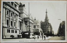 Buenos Aires, Argentina 1925 Realphoto Postcard: Congreso y Calle Callao