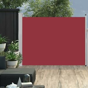 Garden Retractable Side Awning Patio Sunshade Balcony Privacy Screen Red