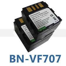 2X BN-VF707U Battery For JVC GZ-MG57E GZ-MG60 GZ-MG67 GZ-MG70 GZ-MG77 GZ-MG505