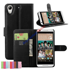 PU Slim Leather Wallet Flip Stand Protective Case Cover For HTC Desire 650