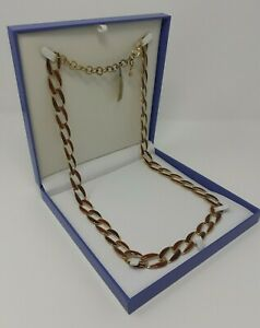 JOB LOT OF 6 - NEW GIFT BOXED QUALITY RUST BROWN ENAMEL LONG NECKLACE - RRP £20