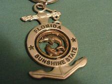 VINTAGE FLORIDA SUNSHINE STATE KEYCHAINANCHOR WITH DOLPHINES