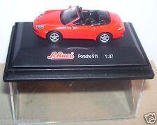 MICRO METAL DIE CAST SCHUCO HO 1/87 PORSCHE 911 cabriolet ROUGE IN BOX