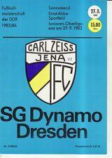 OL 83/84  FC Carl Zeiss Jena  - SG Dynamo Dresden