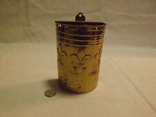 vintage stamped metal match holder with fleur de lis design. LOOK!