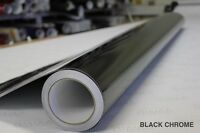 Black Chrome Vinyl Decal 5ft x 46ft Bubble-Free Wrap for Car Bike Boat Trailer