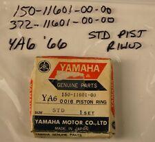Yamaha YA6 '66 Standard Size PISTON RINGS ~ NOS 150-11601-00-00 & 372-11601-00-0