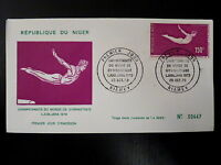 NIGER  AERIEN 139   PREMIER JOUR FDC      CHAMPIONNAT GYMNASTIQUE   150F    1970