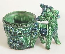 DONKEY PLANTER, VINTAGE, HAND PAINTED, BLUE GREEN