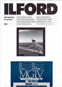 Ilford Fotopapier 10,5x14,8cm Pearl MG IV RC De Luxe 100 Blatt - Vom Fachhändler