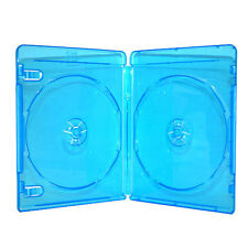 50 NEW 12mm Blue Blu-Ray Disc 2-Discs Double DVD CD Case Movie Box