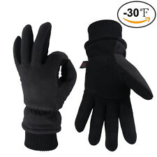 2 Style OZERO Deerskin Leather Gloves Winter Outdoor Warm All Size Men and Women