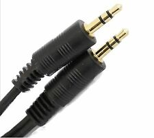 7.5m 3.5mm TRS Jack to Jack Audio Lead Gold Stereo Aux Cable Ipod Phone Laptop