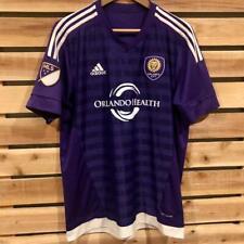 Adidas Climacool Purple Orlando City MLS Soccer Football Polyester Jersey L