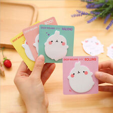 Stationery Pad Label Rabbit Self-Adhesive School Sticky Notes Memo Pad Office