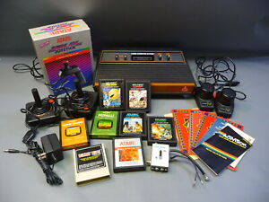 Vintage Atari 2600 Video Computer System Console, Controllers & 8 Games Bundle
