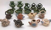Lot of Vintage Miniature OAXACA Pottery Pitchers, Teapots, Baskets (RF-FR4)