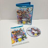 Super Smash Bros. For Wii U ( Nintendo Wii U, 2014) Complete CIB Tested Working