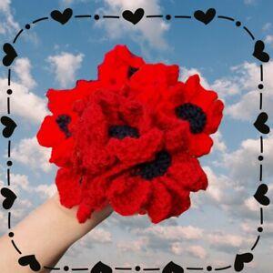 POPPY FLOWERS POPPY WREATH EASY knitting  pattern