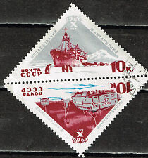 Russia Soviet Antarctic Station Ship Pinguins stamps 1966