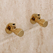 "2pcs Bathroom Brass Golden G1/2"" Shut Off Valve For Bidet Shower Basin Faucet"
