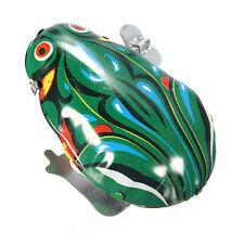 Blechspielzeug Frosch mit Aufziehmotor -hüpfender Blechfrosch  KinderGeschenk