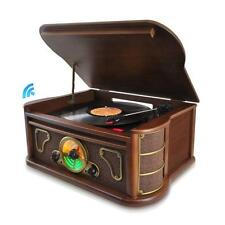 NEW Pyle PTCDS8UBT Bluetooth Vintage Style Turntable Vinyl-to-MP3 USB/SD FMRadio
