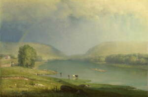 George Inness The Delaware Water Gap Poster Reproduction Giclee Canvas Print
