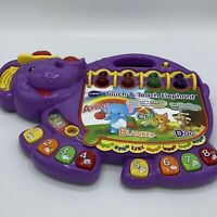 VTech Touch and Teach Elephant Baby Book Purple - Homeschool! Mint! Nice!