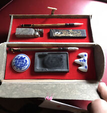 Vintage Chinese Calligraphy Brush Pen Ink Writing Painting Sumo Box Set & Book