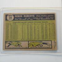 1961 Topps #20 Robin Roberts PHILADELPHIA PHILLIES vintage BASEBALL