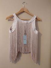 BRAND NEW Kookai Fringe Vest Size 6