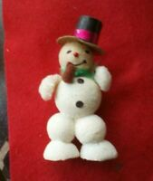 Vintage antique Mica Snowman Top Hat Pipe Adorable early 1940 Japan