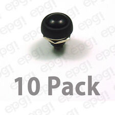SPST (N/O) MOMENTARY ON BLACK PUSH BUTTON SWITCH 3AMPS @ 125VAC #PBS9-10PK