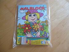 Malblock * Malbuch und Stifte * Kulleraugen * 3 D Effekt * Prinzessin