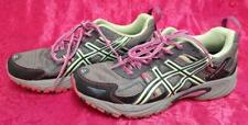 Asics Gel Venture 5 Womens Running Casual Shoes Ladies Size 8.5 Pink Green Grey