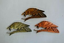 Geocoin Edgar Allen Poe, The Raven, Set of 3, Gold, Silver, and Copper Tones