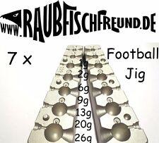 Bleigussform Footballkopf Jig 1, 2, 6, 9, 13, 20 und 26g VMC Jig Köpfe gießen