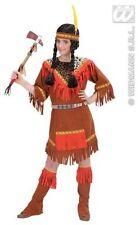 CARNEVALE COSTUMEVESTITO INDIANA SQUAW BAMBINA 11/13 ANNI