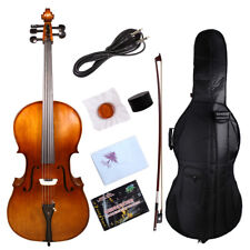 yinfente*5string Electric Silent Cello 4/4 Maple+spruce Free Bag&Bow cable #EC1