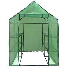Mini 8 Shelves  3 Tiers Walk In Door Outdoor Green House for Planter Portable